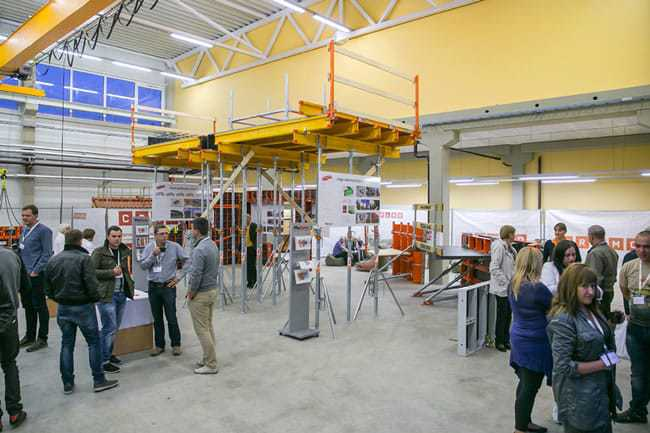 "Educational ""Paschal"" formwork showroom in Panevezys Vocational Training Center"